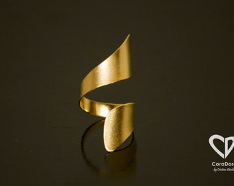 24K Gold Plated Inverse Ring