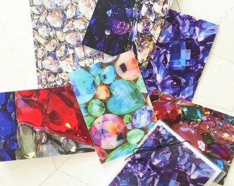 Set of 6 Notecards w/Envelopes- Bling Art: Up Close and Personal/SPARKLE