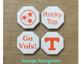 TN Vols Magnets (Set of 4) - Tennessee Volunteers - Fridge Magnets