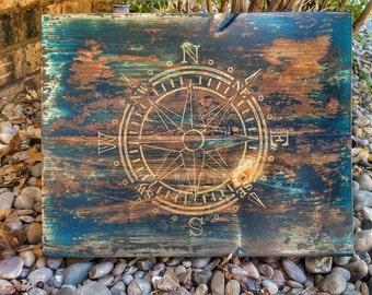 Antique compass wall decor