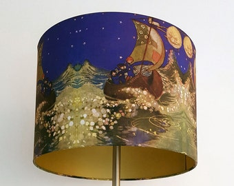 Winken Blinken and Nod . 30 cm diameter Lampshade / Pendant