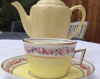 Such A Cute Little Yellow Vintage Teacup & Saucer
