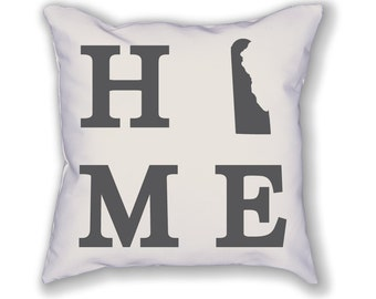 Delaware Home State Pillow