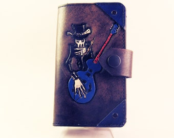 Custom Painted Leather Phone Case