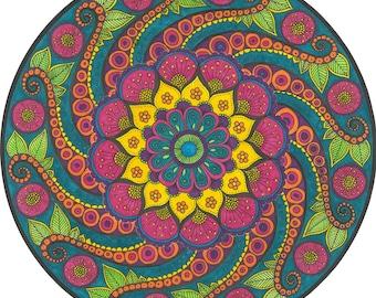 Psychedelic Spring Mandala