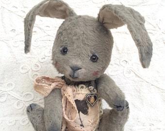 "Sweet Bunny ""Daisy"", collectible handmade art toy, OOAK"