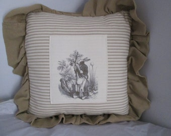 Charming Country Rabbit Pillow
