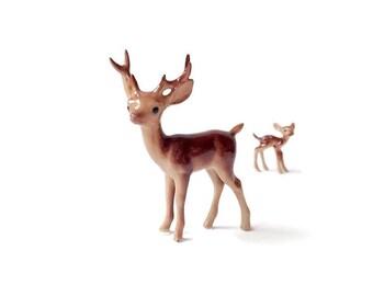 Miniature porcelain deer, deer figurine, fairy garden, fairy garden supplies, fairy garden animal, miniature garden, deer with antlers,