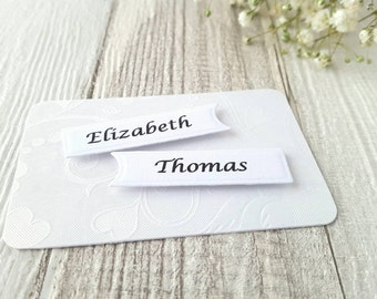 Wedding Place Cards - Flat Place Cards - Wedding Name Tags - Favor Tags - Wedding Escort Cards - Name Cards - Wedding Name Cards