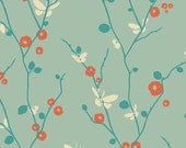 Rapture Cotton Fabric, Butteryfly Bliss in Aqua Fabric, Quilting Fabric