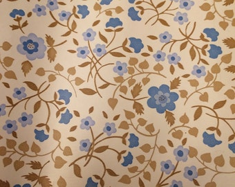 Vintage 80s Contact Paper Roll Blue Flowers Morning Glory