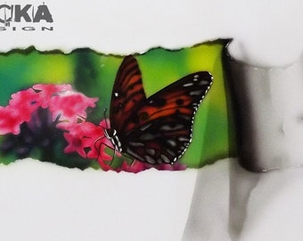 Butterfly airbrushing