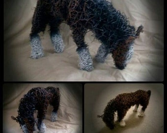 Handmade wire Shire Horse Sculpture