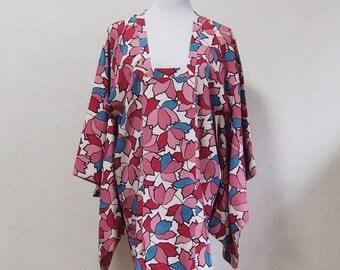 Michiyuki/Japanese coat /vintage /traditional wear/for kimono/pink