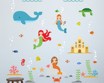 Mermaid Wall Decals, Mermaids Decals, Mermaid Wall Decal, Mermaids Decal, Mermaids  Wall Part 64