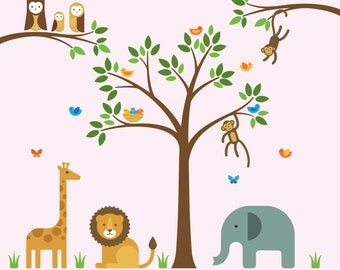 Jungle Theme Wall Decals, Jungle Theme Wall, Jungle Wall Decals - Large