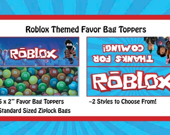 Roblox Themed Bag Toppers