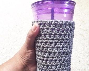 Iced Coffee Cup Cozy - Crochet Cotton Cozie