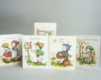 Vintage Alpine Children Birthday Card Set of Five