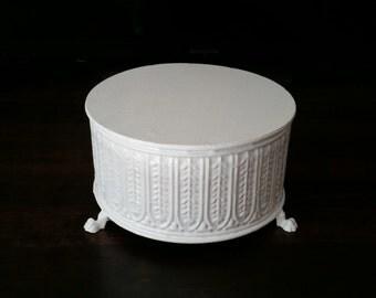 """8"""" White cake stand"""