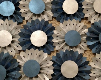 Paper rosettes- set of 12