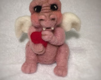 Valentines Needle Felted Dragon
