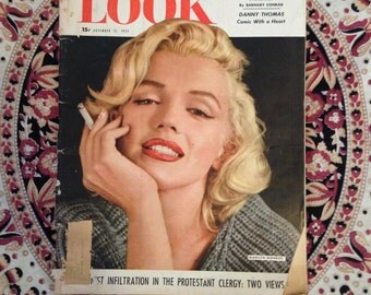 Marilyn Monroe featured in Look Magazine