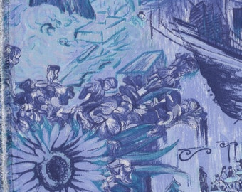 printed viscose twill fabric inspired by Van Gogh paintings
