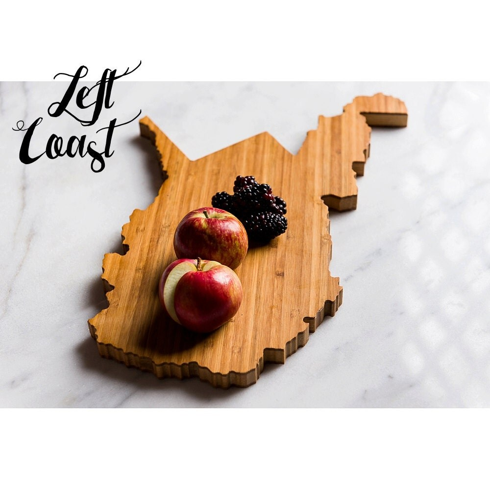 Kitchen Gift For Mom West Virginia Cutting Board Personalized State Wedding Gift Home