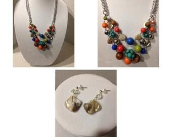 Multi-Colored Fashion Forward Jewelry Set.