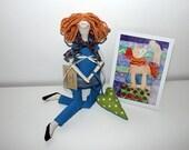Doll Lucy Soft rag doll Tilda doll Home decor doll Nursery decor doll Fabric doll Cotton doll Doll for girl Interior doll Art doll