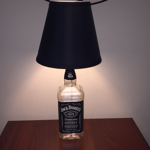 liquor bottle lamp by tabletopwatts on etsy