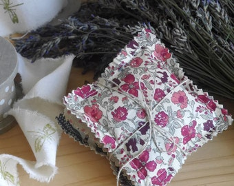 Lavender sachet, dryer sachets, dried lavender, sachet bag, mini pillow, lavender bags, scented sachets, gift ideas for her, liberty