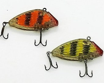 Two vintage South Bend Optic Fishing Lures