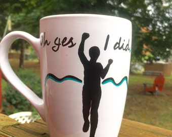Oh Yes I Did -Half Marathon Finishers Mug- female runner