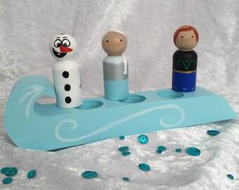 Frozen peg doll playset