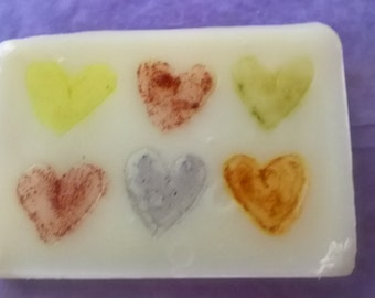 Heart Hand Painted Soap Bar 50g