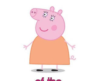Peppa Pig Mommy # 10 - 8 x 10 - T Shirt Iron On Transfer - Birthday Girl