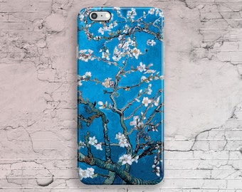 iPhone 7 Case Almond Blossom Van Gogh, Floral iPhone 6 Case, Blue iPhone 6S, iPhone 7 Plus, iPhone 6S Plus, iPhone 5 Case, 4 4S 5S 5C SE