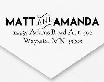 Self-Inking Address Stamp, Wedding Address Stamp, Engagement Gift, Housewarming Gift, Thank You Cards, Embellished, Cute Font