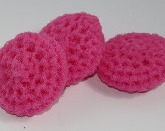 Scrubbies Crochet Set of 3 Pink