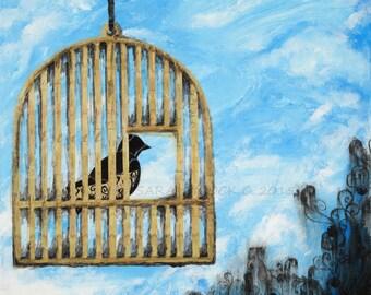 Bird Cage Print - Set Yourself Free