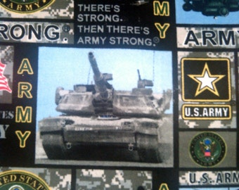 Military Army Soft Fleece Blanket/Throw - Stitched Edges!