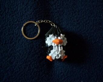 3D origami Keychain (Penguin)