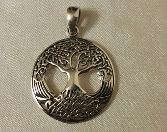 Sterling Silver Tree of life pendant/Celtic tree of life pendant