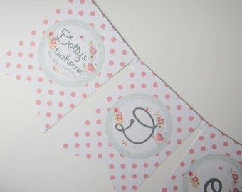 Personalised Bunting to Feature Your Logo. Craft Stall | Business Fair | Advertising | Promotion | Festival | Office