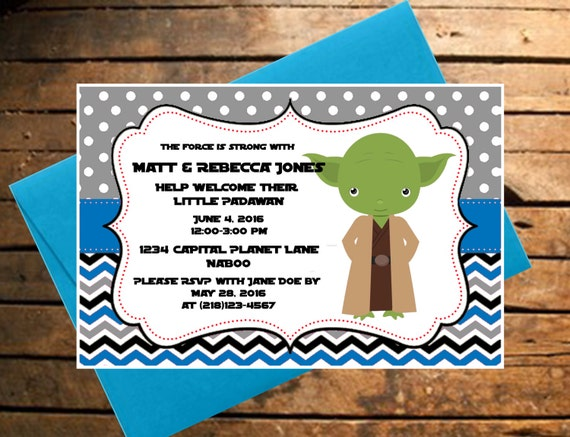 downloadable star wars themed baby shower invitation