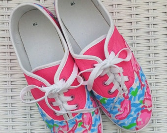 Custom Hand Painted Lilly Pulitzer Inspired Shoes