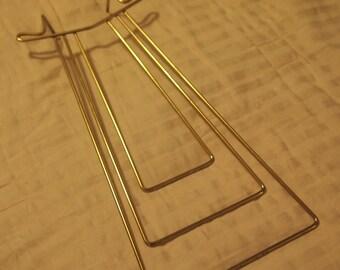 Vintage brass tie display-