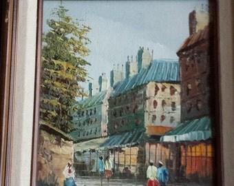 Henry Rogers Signed Parisian Street Scene